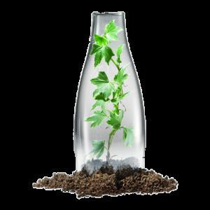 moderna vattenflaskor med tryck